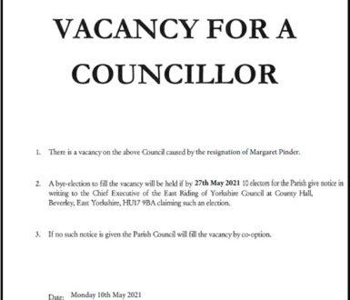 Minster South Councillor Vacancy Notice